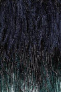 Шерстяное платье с перьями No.21