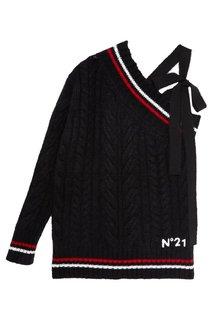 Пуловер на одно плечо No.21