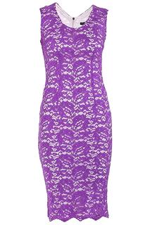Яркое кружевное платье без рукавов Elisa Fanti