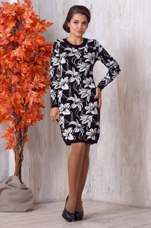 """Приталенное платье с принтом """"Цветы"""" VAY"""