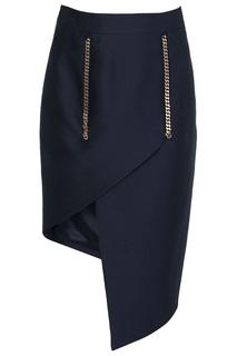 Асимметричная юбка с запахом Thomas Wylde