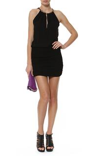 Короткое платье с американской проймой Roberto Cavalli