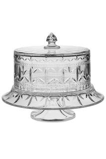 Тарелка для торта на ножке CRYSTAL BOHEMIA
