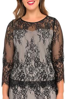 Полуприлегающая блузка с кружевом Svesta
