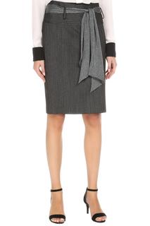 Прямая юбка с поясом Max Mara