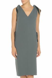 Полуприлегающее платье с V-образным вырезом Max Mara