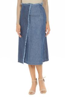 Полуприлегающая юбка с запахом SPORTMAX CODE
