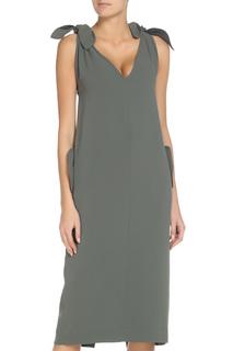 Полуприлегающее платье с карманами Max Mara