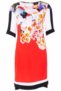 Легкое платье с ярким принтом Class Cavalli
