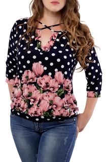 """Полуприлегающая блуза с принтом """"Цветы"""" Dream World"""