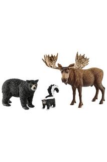 Жители лесов Северной Америки Schleich