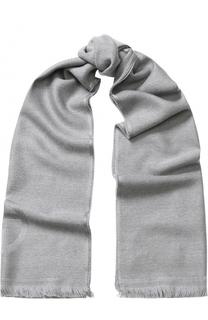 Шерстяной шарф с необработанным краем Giorgio Armani