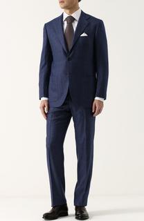 Кашемировый костюм с пиджаком на двух пуговицах Kiton