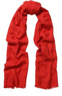 Платок из смеси хлопка и модала с необработанным краем BOSS