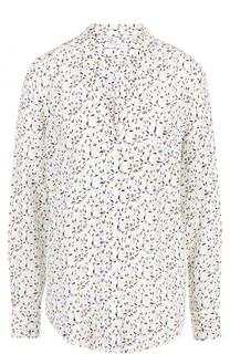 Шелковая блуза свободного кроя с принтом Equipment