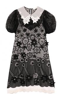 Приталенное мини-платье с коротким рукавом Chloé