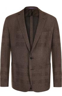 Однобортный пиджак из смеси кашемира и шелка Ralph Lauren