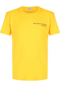 Хлопковая футболка с принтом на спине Valentino