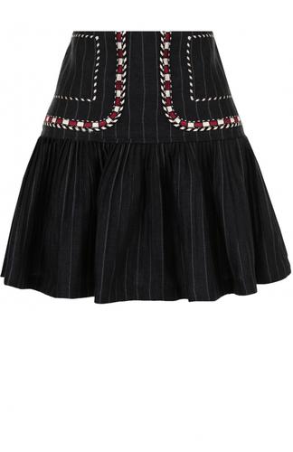 Льняная мини-юбка с контрастной отделкой Isabel Marant Etoile