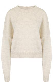 Укороченный шерстяной пуловер свободного кроя Isabel Marant Etoile