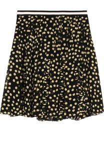 Шелковая мини-юбка в складку с принтом Dorothee Schumacher