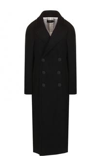 Удлиненное двубортное пальто из шерсти Joseph