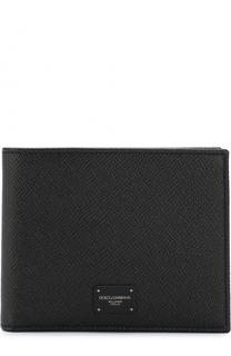 Кожаное портмоне с отделениями для кредитных карт и монет Dolce & Gabbana