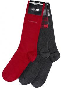 Комплект из трех пар хлопковых носков BOSS