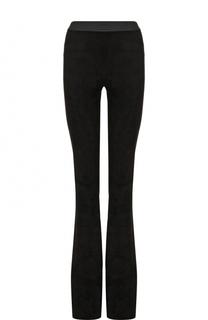 Замшевые расклешенные брюки с контрастным поясом DROMe