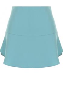 Однотонная мини-юбка с оборкой REDVALENTINO