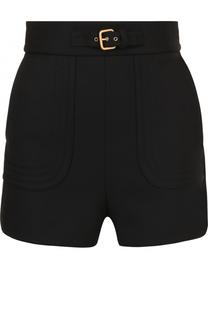 Мини-шорты с завышенной талией и поясом REDVALENTINO