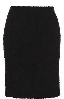 Однотонная буклированная мини-юбка Tom Ford