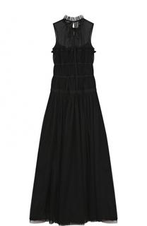 Приталенное платье-миди без рукавов Rochas