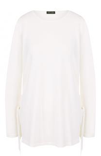 Шерстяной пуловер свободного кроя с круглым вырезом Escada