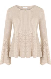 Шерстяной пуловер с круглым вырезом и завышенной талией See by Chloé