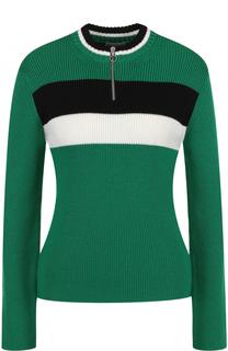Шерстяной пуловер с вырезом на молнии REDVALENTINO