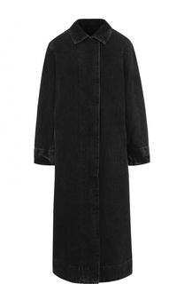 Джинсовое пальто свободного кроя с потертостями The Row