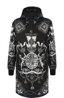 Утепленная парка на молнии с капюшоном Dolce & Gabbana