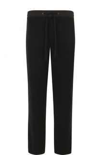 Кашемировые брюки прямого кроя с поясом на кулиске James Perse