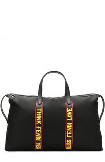 Текстильная дорожная сумка с плечевым ремнем Fendi