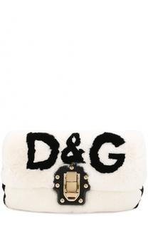 Сумка Lucia с отделкой из меха кролика Dolce & Gabbana