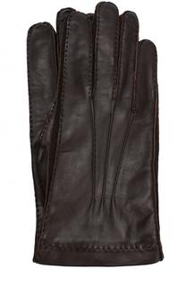 Кожаные перчатки с подкладкой из смеси кашемира и шелка Loro Piana