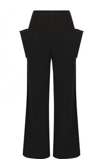 Хлопковые расклешенные брюки с накладными карманами Yohji Yamamoto