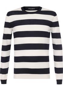 Кашемировый джемпер в контрастную полоску Dolce & Gabbana