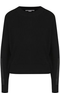 Шерстяной пуловер фактурной вязки с круглым вырезом Stella McCartney
