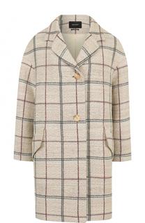 Шерстяное пальто свободного кроя с укороченным рукавом Isabel Marant
