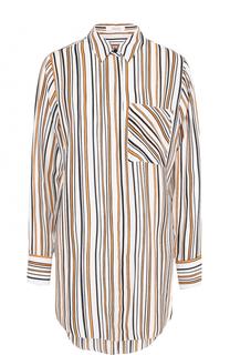 Шелковая блуза свободного кроя в полоску Dorothee Schumacher