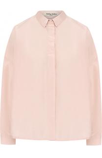 Однотонная шелковая блуза свободного кроя Tata Naka