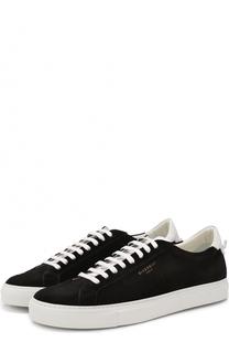 Замшевые кеды на шнуровке Givenchy