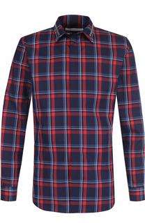 Хлопковая рубашка в клетку Givenchy